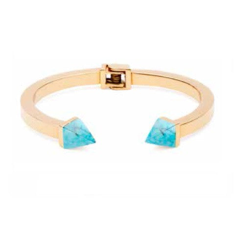 (PRE-ORDER) Grand Tilly Bangle - Blue Turquoise and Gold
