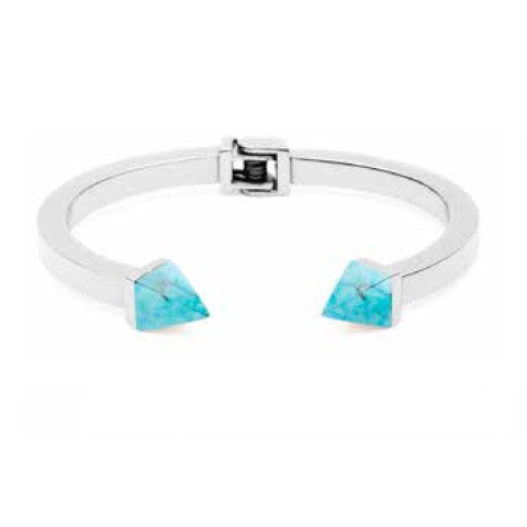 (PRE-ORDER) Grand Tilly Bangle - Blue Turquoise and Silver