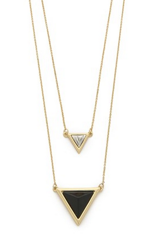 BLACK ONYX TEMPLE PAVE NECKLACE