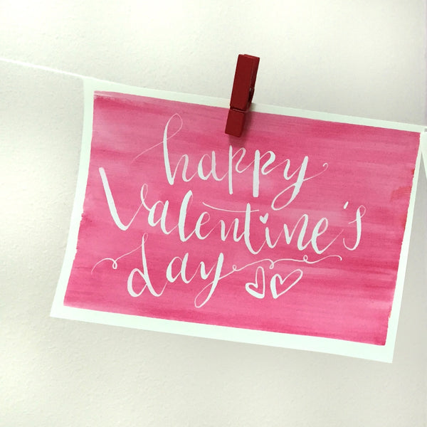HAPPY VALENTINES DAY CARD - PINK