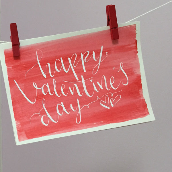 HAPPY VALENTINES DAY CARD - RED