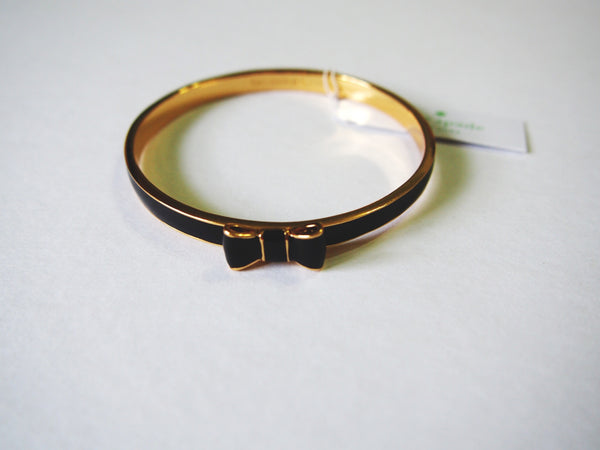 Kate Spade Take a Bow Bangle - Black