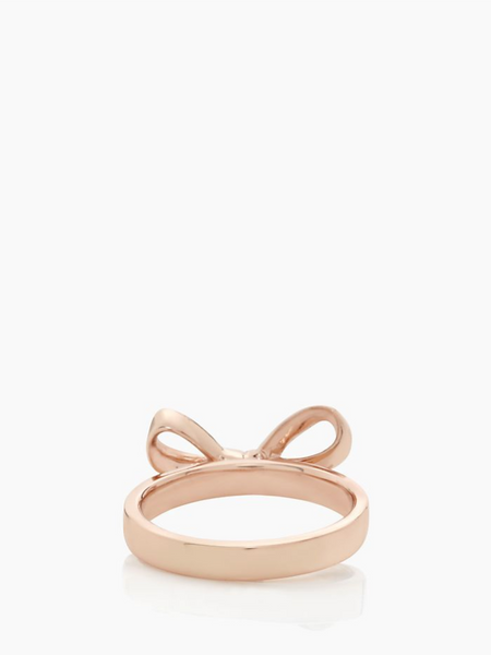 Kate Spade Skinny Mini Bow Ring - Rose Gold