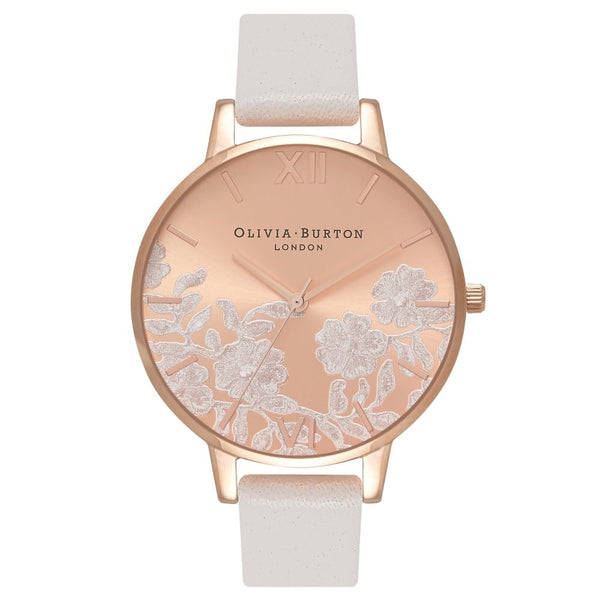 Lace Detail Blush & Rose Gold Big Dial