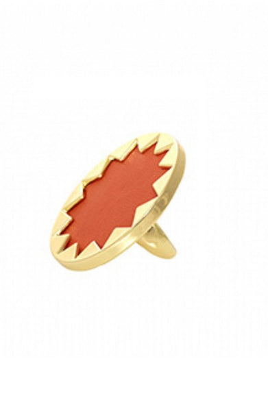 CORAL LARGE SUNBURST RING
