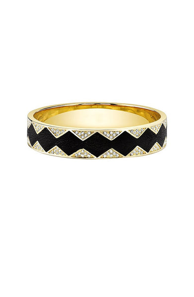 SUNBURST BANGLE - BLACK