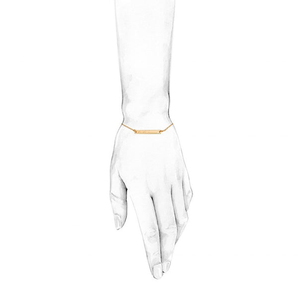 LIVE THIS MOMENT BRACELET - GOLD