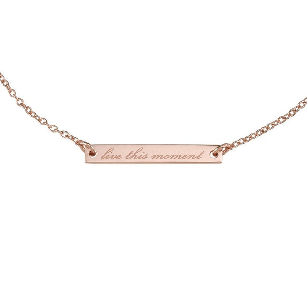 LIVE THIS MOMENT BRACELET - ROSE GOLD