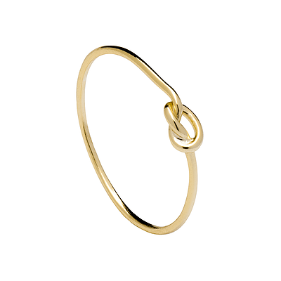 LOOP KNOT GOLD RING