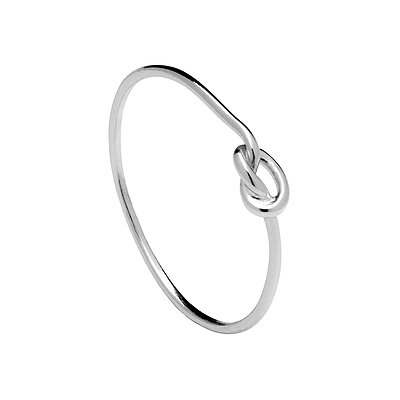 LOOP KNOT SILVER RING