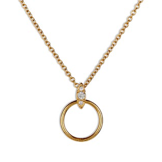 THE PAVE MARQUISE CHARM NECKLACE - GOLD