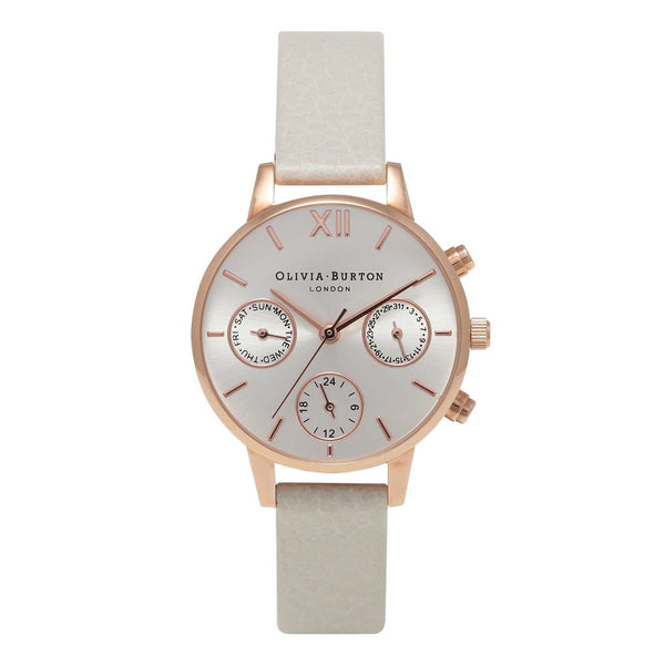 MIDI CHRONO DETAIL MINK AND ROSE GOLD