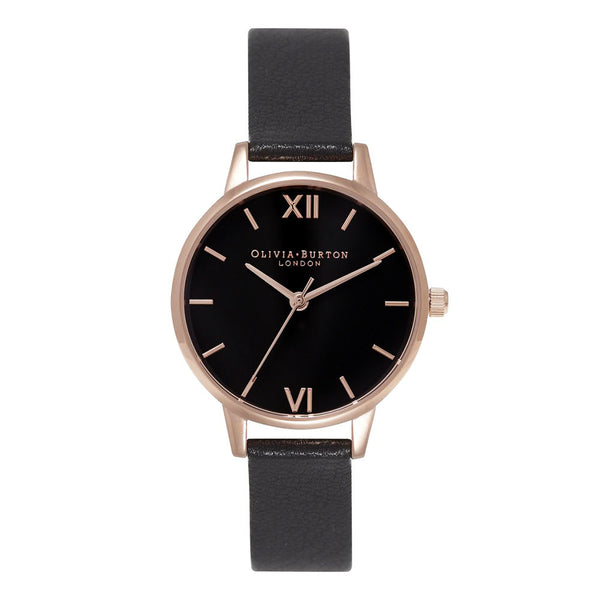 MIDI DIAL BLACK DIAL & ROSE GOLD
