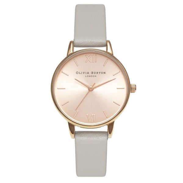 MIDI DIAL GREY & ROSE GOLD