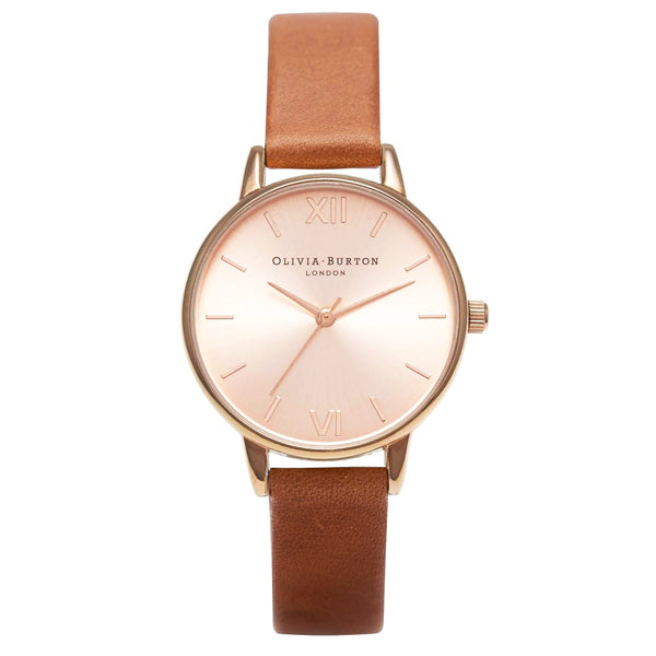 MIDI DIAL TAN & ROSE GOLD