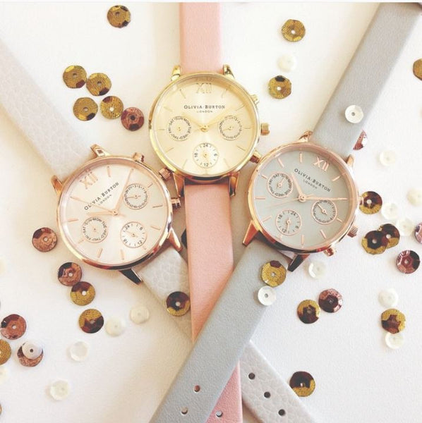 MIDI CHRONO DETAIL GREY AND ROSE GOLD