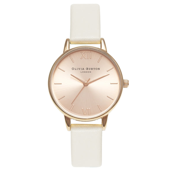 MIDI DIAL ROSE GOLD DIAL & MINK