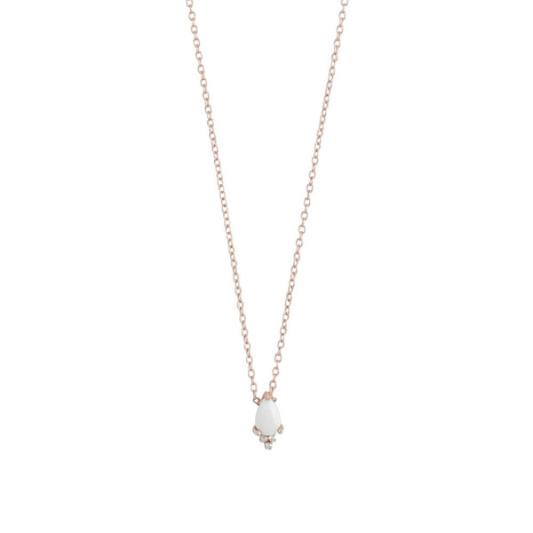 MIDNIGHT HUMMINGBIRD PETITE NECKLACE - WHITE HOWLITE