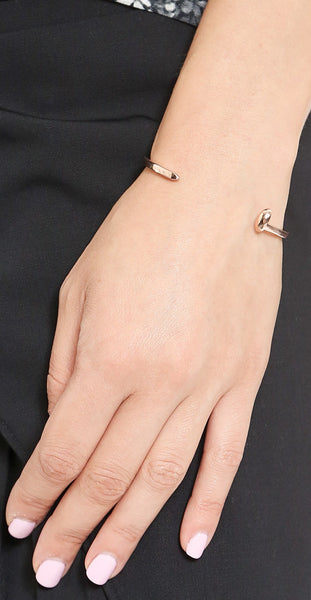 Skinny Railroad Spike Cuff - Rose Gold