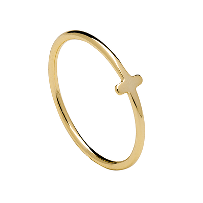 MINI CROSS GOLD RING