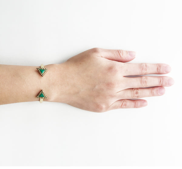 NATIVE LEGEND CUFF - MALACHITE GREEN STONE