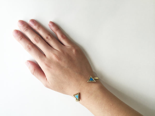 NATIVE LEGEND CUFF - TURQUOISE BLUE STONE