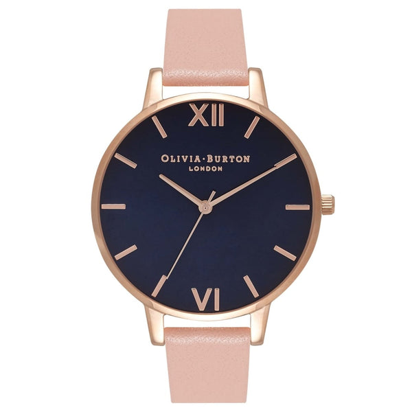 Navy Dial Dusty Pink & Rose Gold