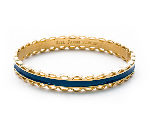 (PRE-ORDER) Scallop Bangle Collection - Scalloped Navy