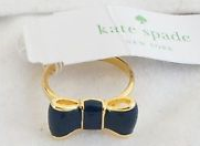 Kate Spade Take a Bow Ring - Navy