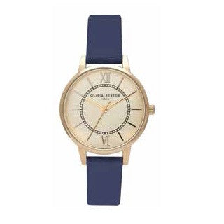 MIDI WONDERLAND GOLD DIAL AND NAVY STRAP