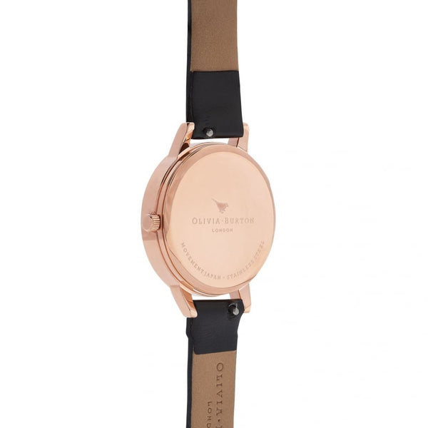 MIDI FLOWER SHOW 3D Daisy Black & Rose Gold Watch