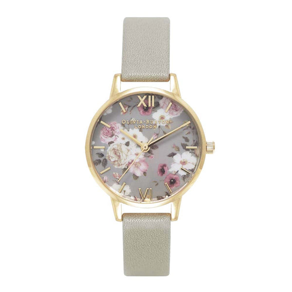Midi Enchanted Garden Grey and Gold Watch