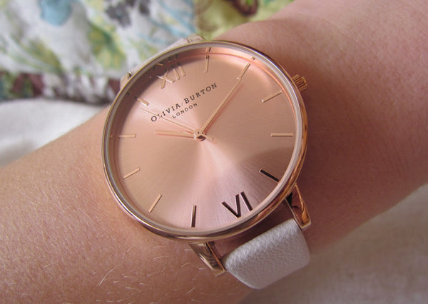 BIG DIAL WHITE AND ROSE GOLD