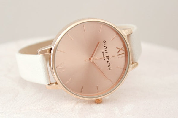 BIG DIAL GREY LILAC AND ROSE GOLD