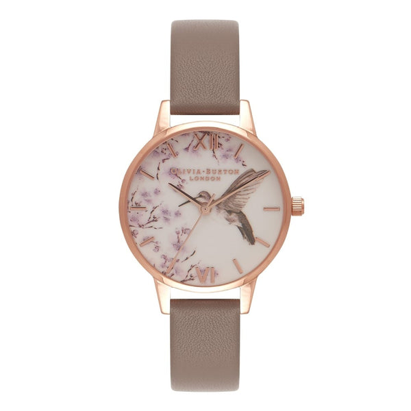 Midi dial Painterly Prints London Grey & Rose Gold