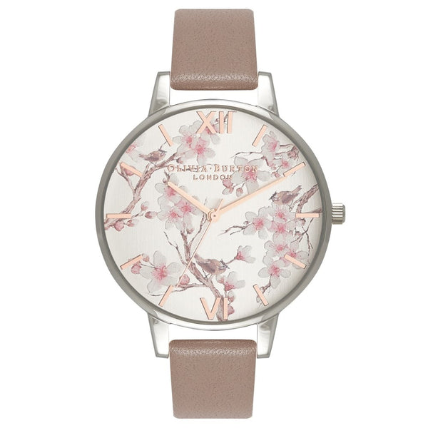 Parlour Blossom Birds Iced Coffee, Silver & Rose Gold
