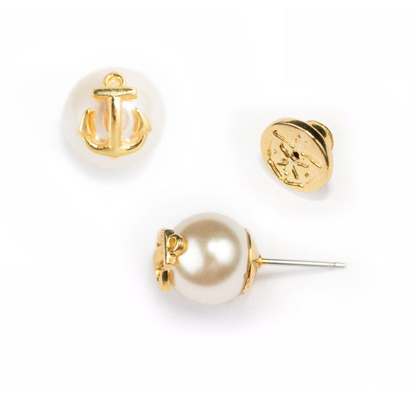 (PRE-ORDER) Pearl Collection - Atlantic Pearl Gold Earrings