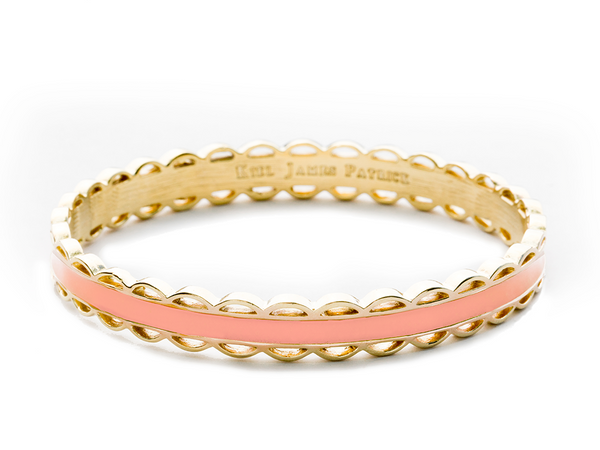 (PRE-ORDER) Scallop Bangle Collection - Scalloped Pink