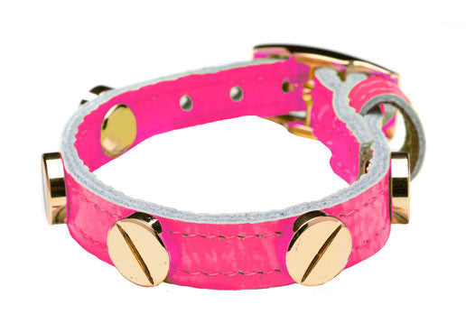 NEON PINK GOLD SCREW BRACELET