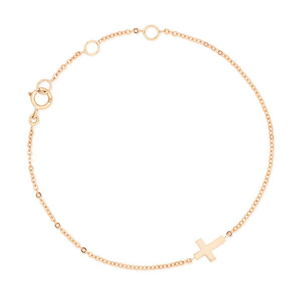 CLASSIC CROSS BRACELET ROSE GOLD *EXCLUSIVE