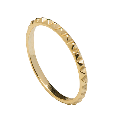 ROCKY GOLD RING