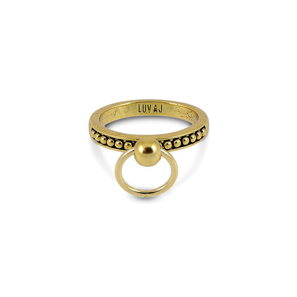 RING OF FIRE SINGLE RING - ANTIQUE 14KT GOLD