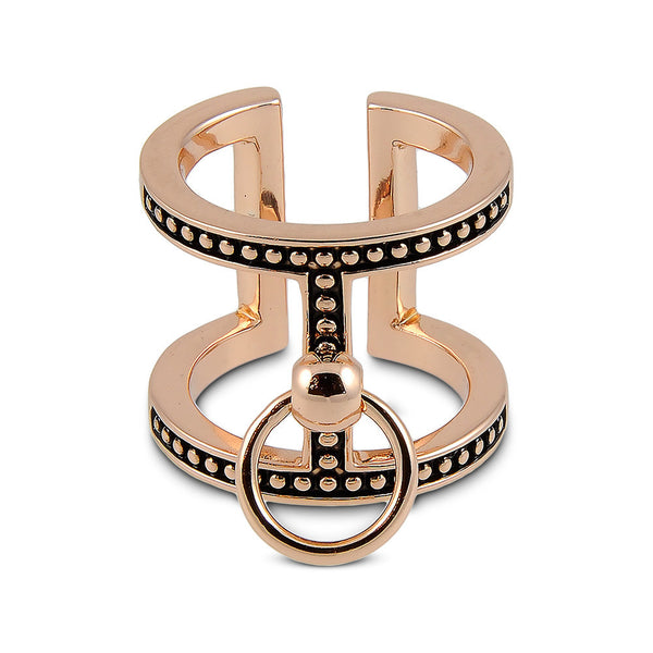 RING OF FIRE T-BAR RING- ROSE GOLD