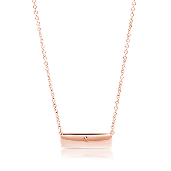 (PRE-ORDER) Diamond Rose Gold Plate Necklace