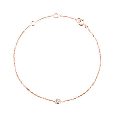 (PRE-ORDER) DIAMOND SNOWFLAKE BRACELET ROSE GOLD