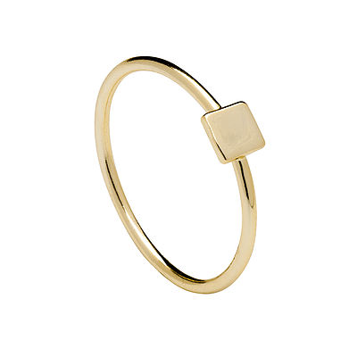 SQUARE GOLD RING