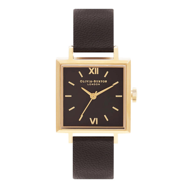 Square Dial Black Dial & Gold
