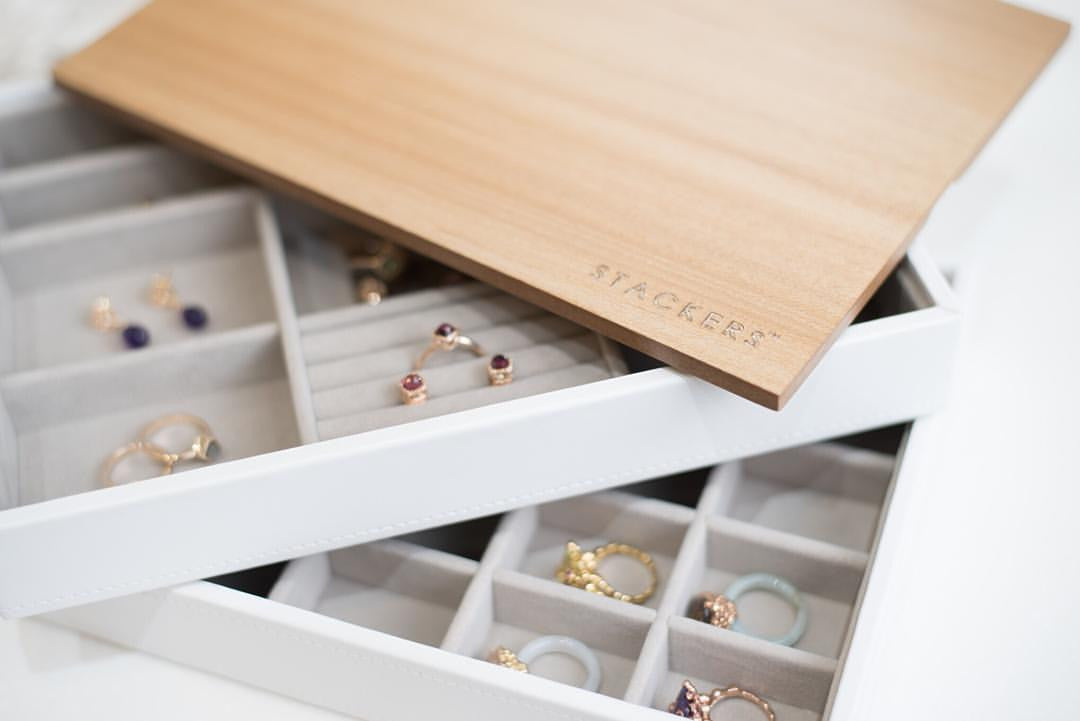 Stackers Jewellery Box - 4 Long Sections - Just Tangy 174fffd8f7