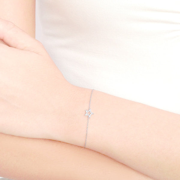 (PRE-ORDER) DIAMOND STAR *GAZE CHARM BRACELET (2 COLOURS)