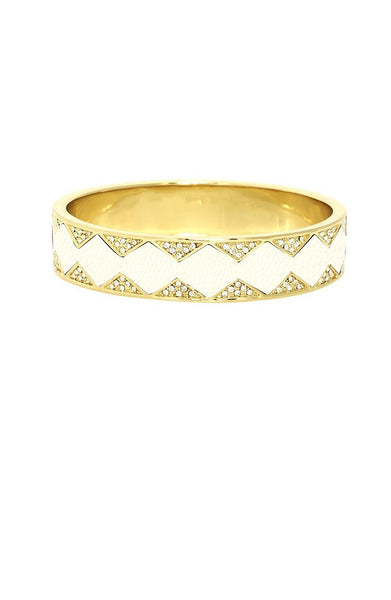 SUNBURST BANGLE - WHITE